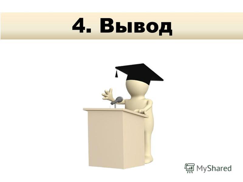 4. Вывод