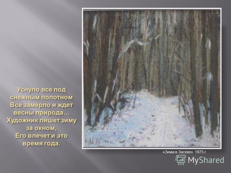 «Зима в Засеке» 1975 г.