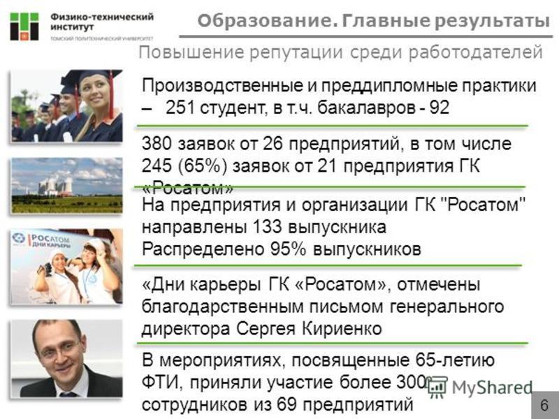 380 заявок от 26 предприятий, в том числе 245 (65%) заявок от 21 предприятия ГК «Росатом» На предприятия и организации ГК