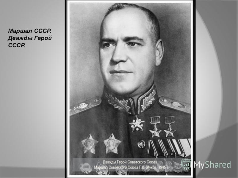 Маршал СССР. Дважды Герой СССР.