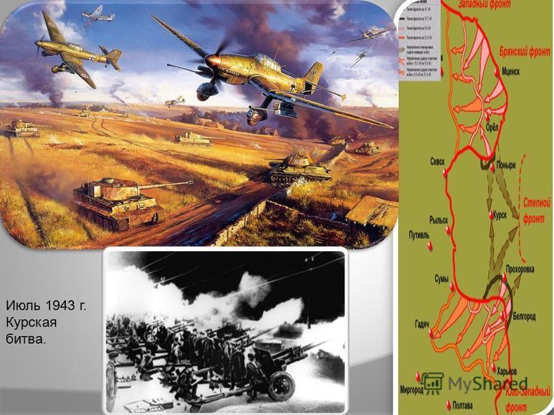 Июль 1943 г. Курская битва.