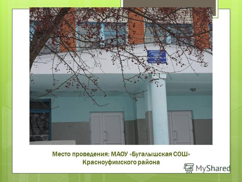 Место проведения: МАОУ «Бугалышская СОШ» Красноуфимского района