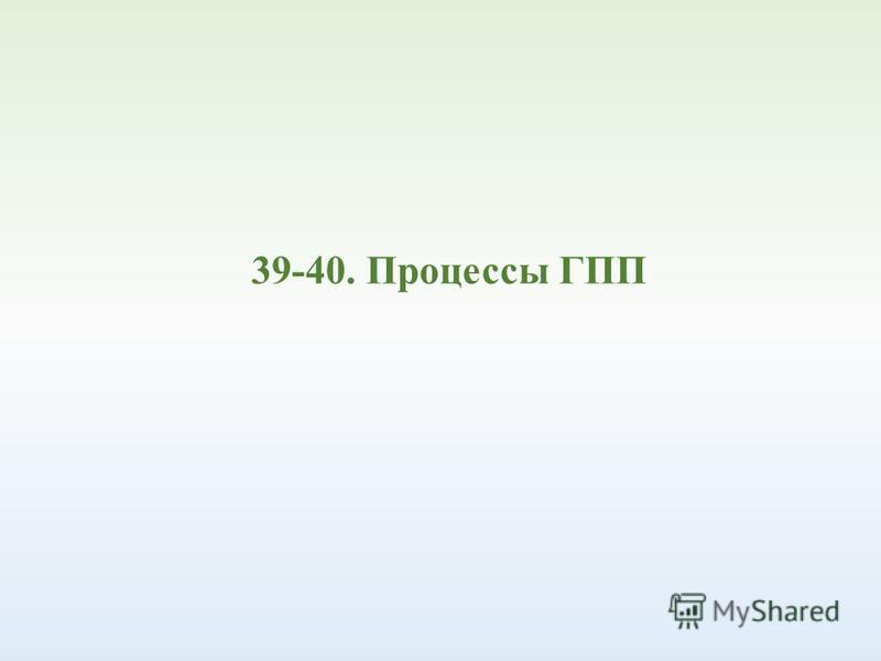 39-40. Процессы ГПП