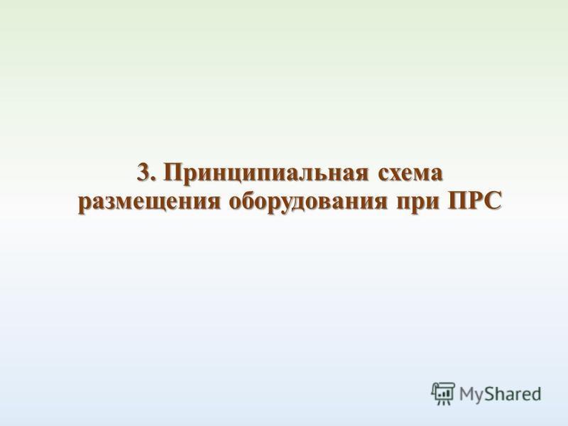 3. Принципиальная схема размещения оборудования при ПРС