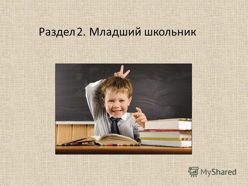 Раздел 2. Младший школьник