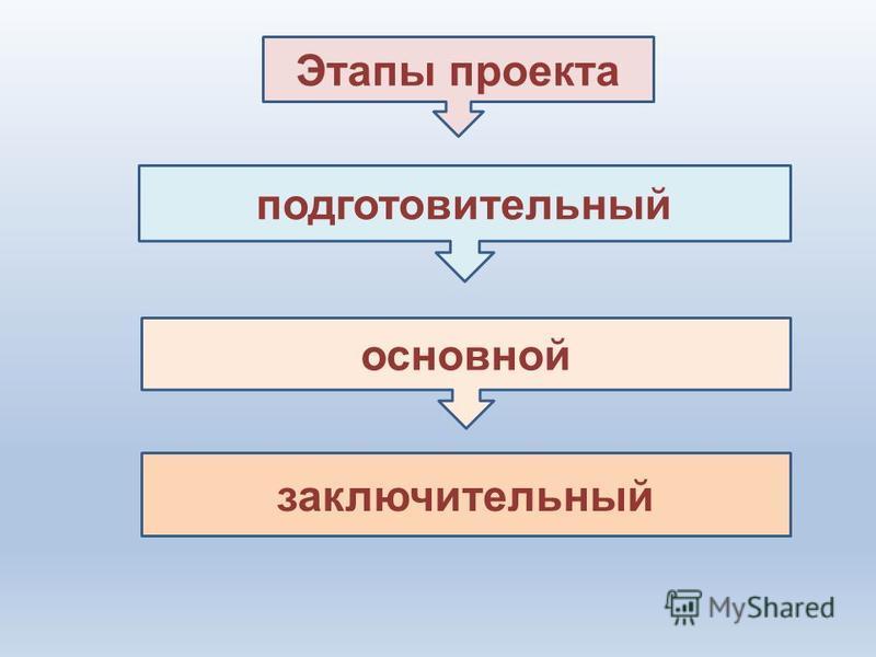 Этапы проекта подготовительный основной заключительный