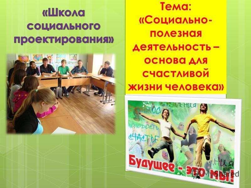 Тема: «Социально- полезная деятельность – основа для счастливой жизни человека»