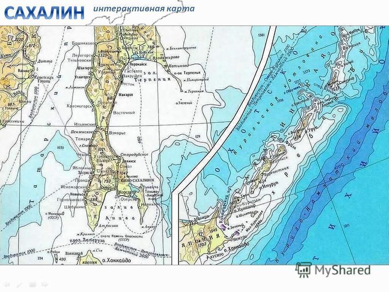 южная часть северная часть интерактивная карта