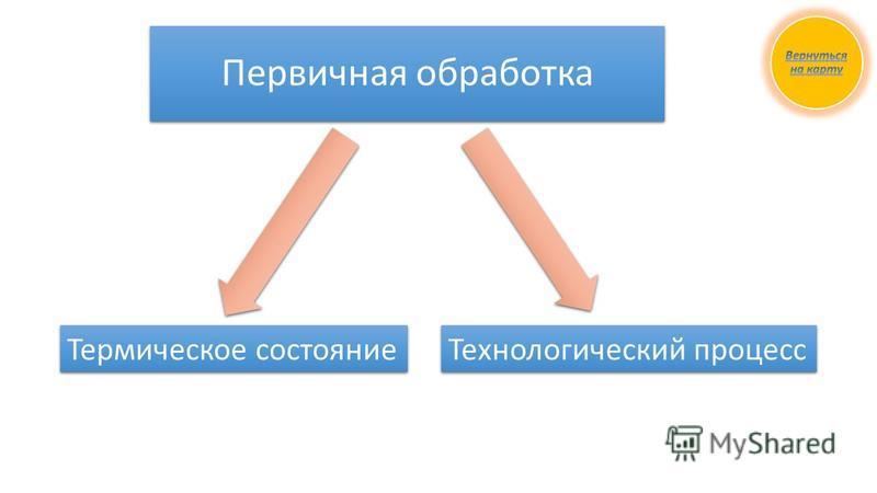 Первичная обработка Термическое состояние Технологический процесс