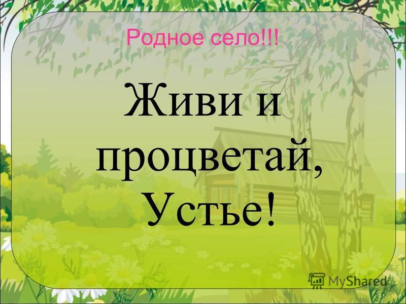 Родное село!!! Живи и процветай, Устье!