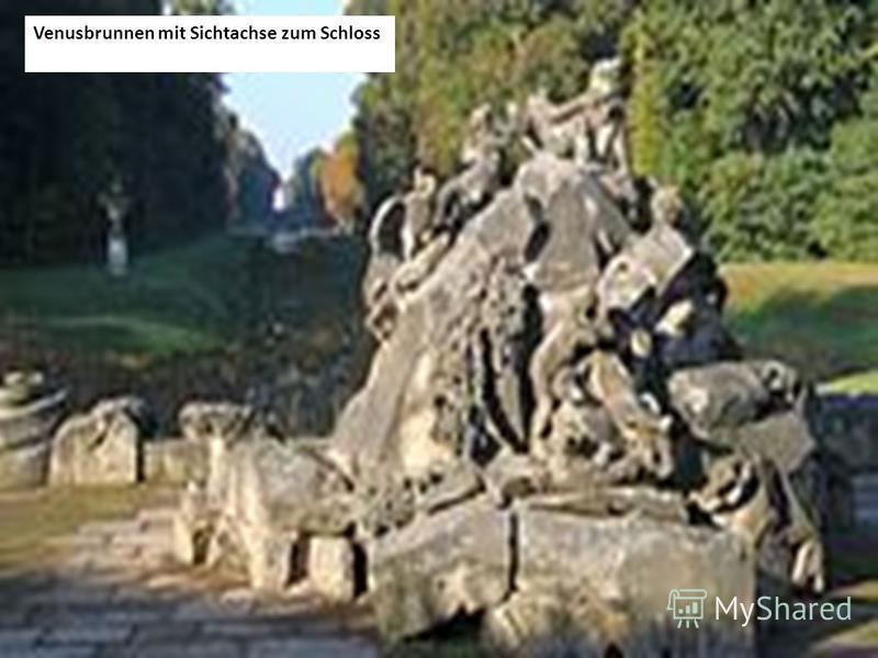 Venusbrunnen mit Sichtachse zum Schloss