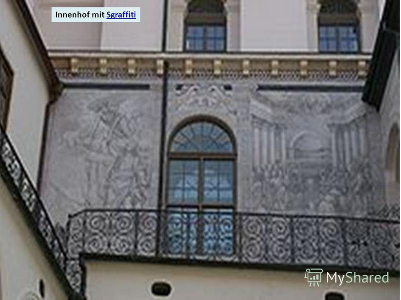 Innenhof mit SgraffitiSgraffiti