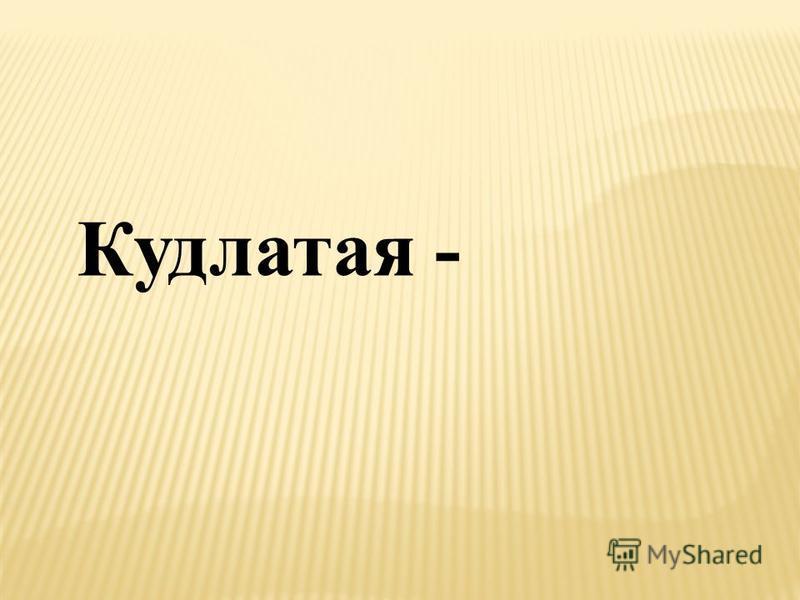 Кудлатая -