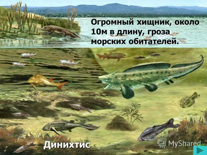 Динихтис Огромный хищник, около 10 м в длину, гроза морских обитателей.