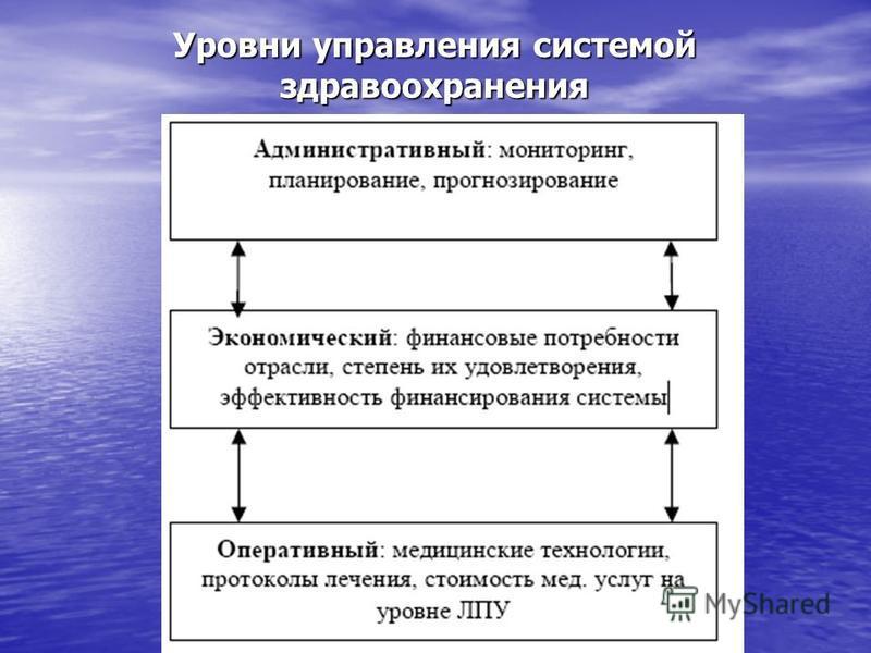 Уровни управления системой здравоохранения
