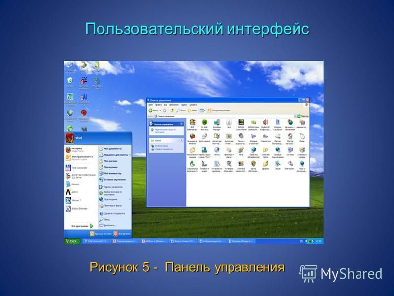 Пользовательский интерфейс Рисунок 5 - Панель управления