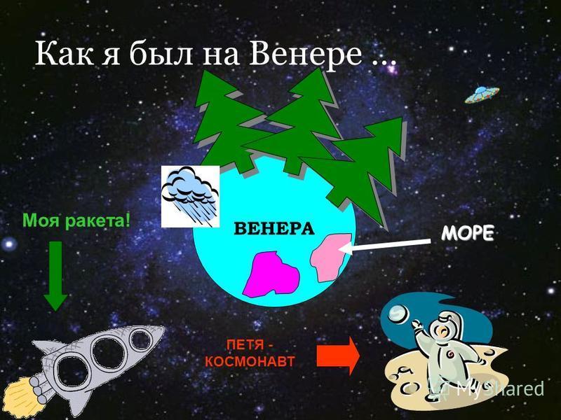Как я был на Венере … ВЕНЕРА МОРЕ ПЕТЯ - КОСМОНАВТ Моя ракета!