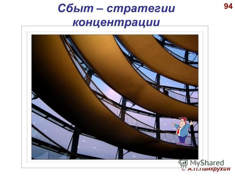 © А.П.Панкрухин 94 Сбыт – стратегии концентрации