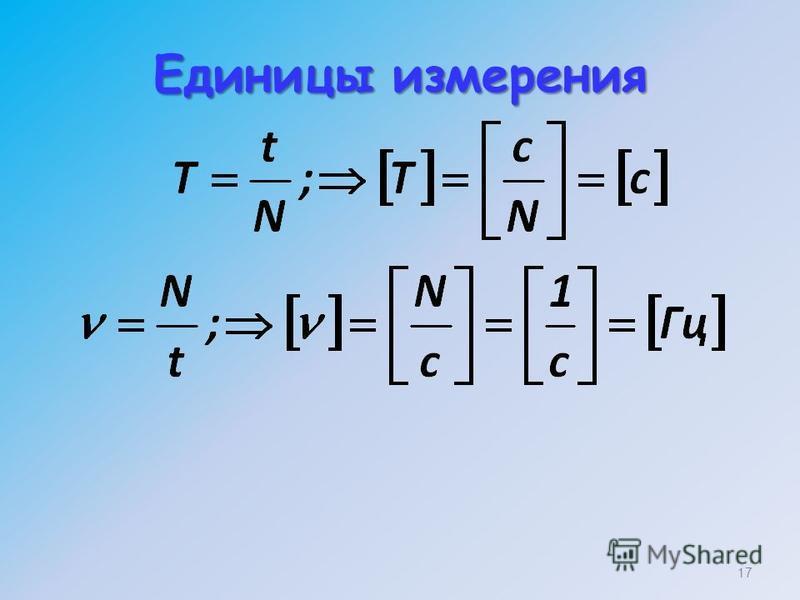 Единицы измерения 17