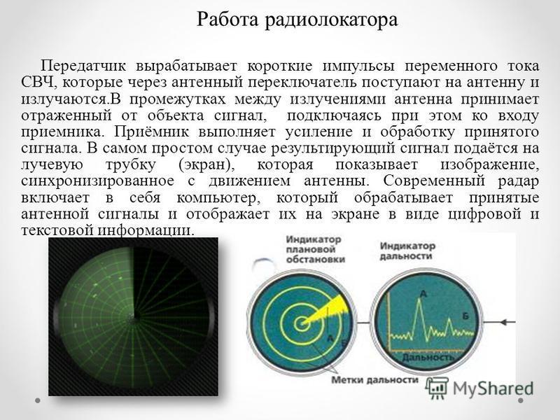 Принцип работы радиолокатора
