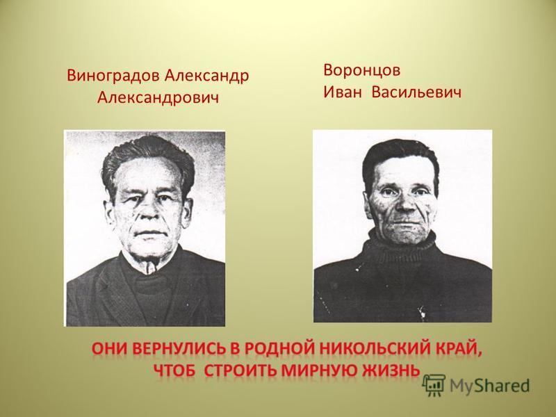 Виноградов Александр Александрович Воронцов Иван Васильевич