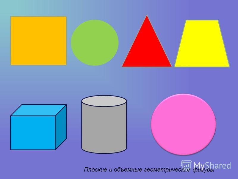 Плоские и объемные геометрические фигуры