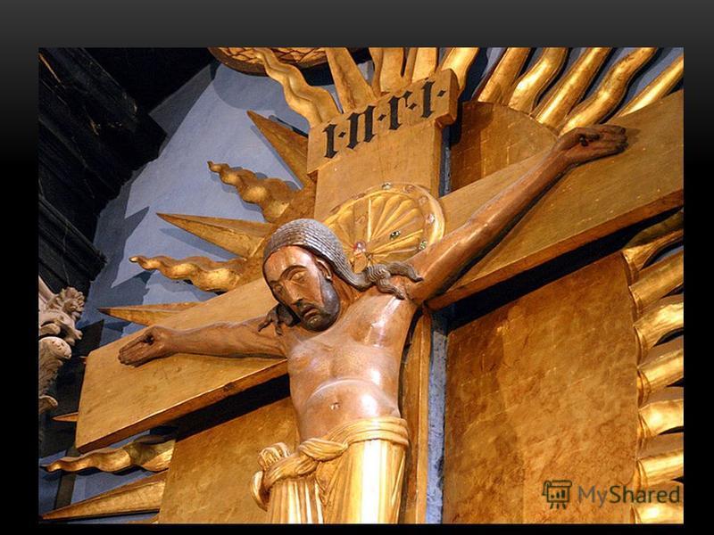 «Распятье Геро». Двухметровый дубовый крест подарен собору около 975 года архиепископом Геро, после его возвращения из поездки в Византию. Чудотворный крест был выполнен по его заказу и является древнейшим из монументальных распятий в Европе. Подобны