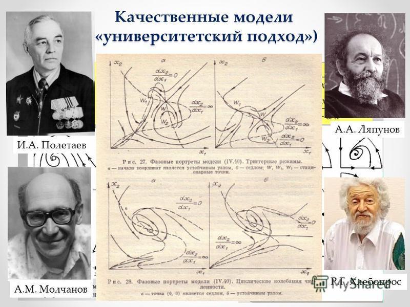 модели («университетский подход») Качественные модели («университетский подход») И.А. Полетаев А.А. Ляпунов А.М. Молчанов Р.Г. Хлебопрос