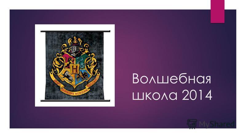 Волшебная школа 2014