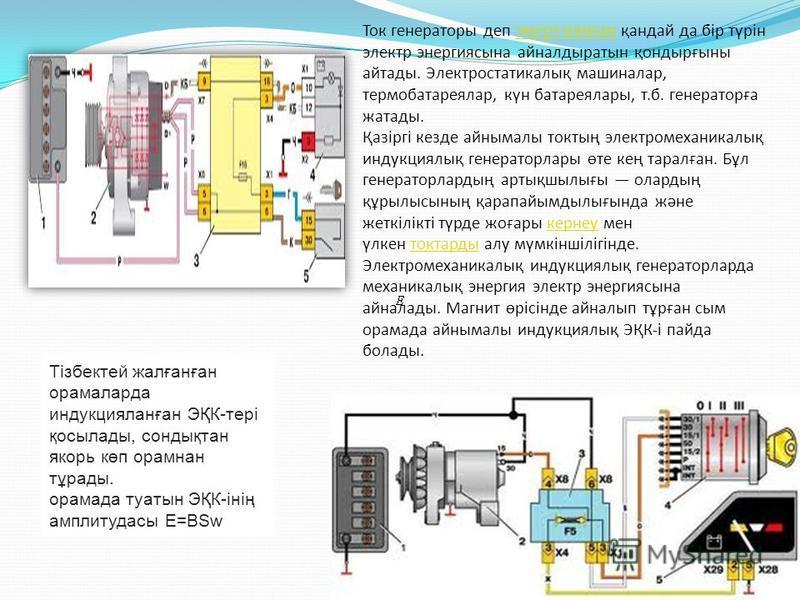 Ток генераторы деп энергияның қандай да бір түрін электр энергиясына айналдыратын қондырғыны айтады. Электростатикалық машиналар, термобатареялар, күн батареялары, т.б. генераторға жатады. Қазіргі кезде айнымалы токтың электромеханикалық индукциялық