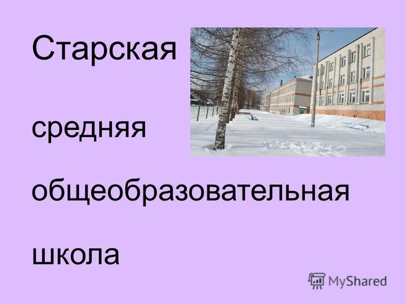 Старская средняя общеобразовательная школа