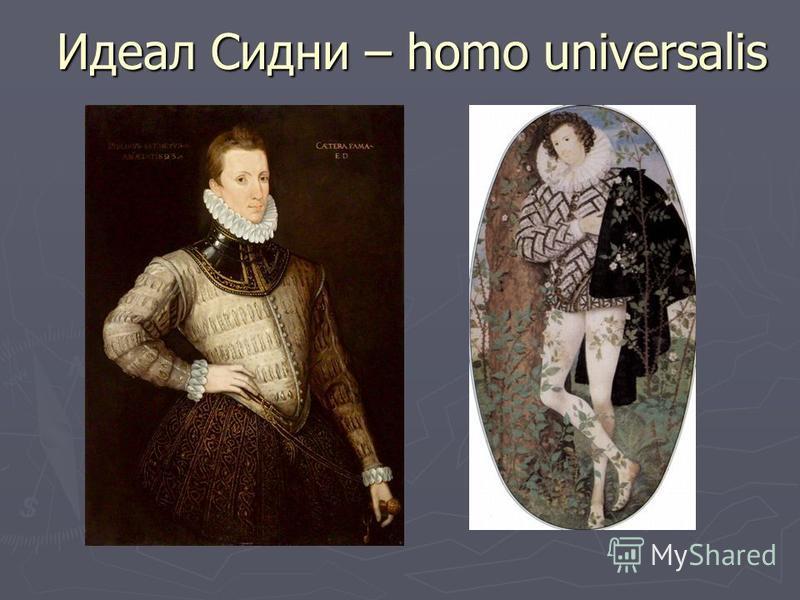 Идеал Сидни – homo universalis Идеал Сидни – homo universalis