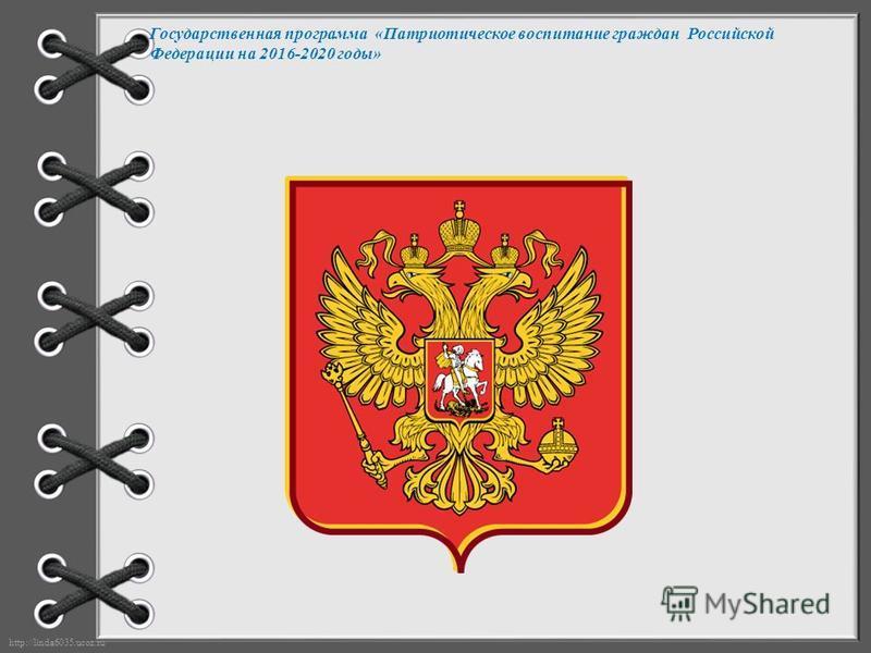 Государственная программа «Патриотическое воспитание граждан Российской Федерации на 2016-2020 годы»
