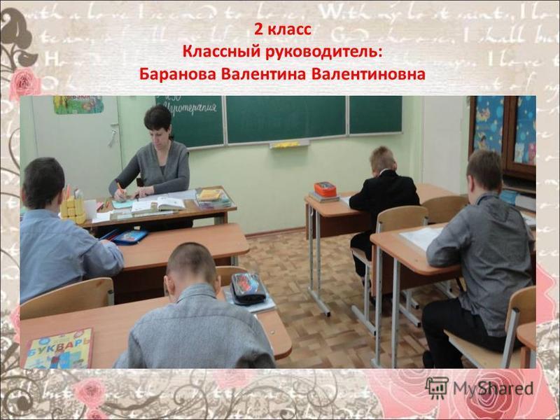 2 класс Классный руководитель: Баранова Валентина Валентиновна