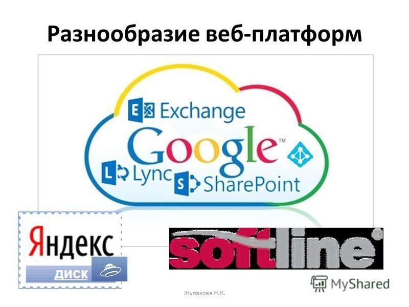 Разнообразие веб-платформ Жупакова Н.К.