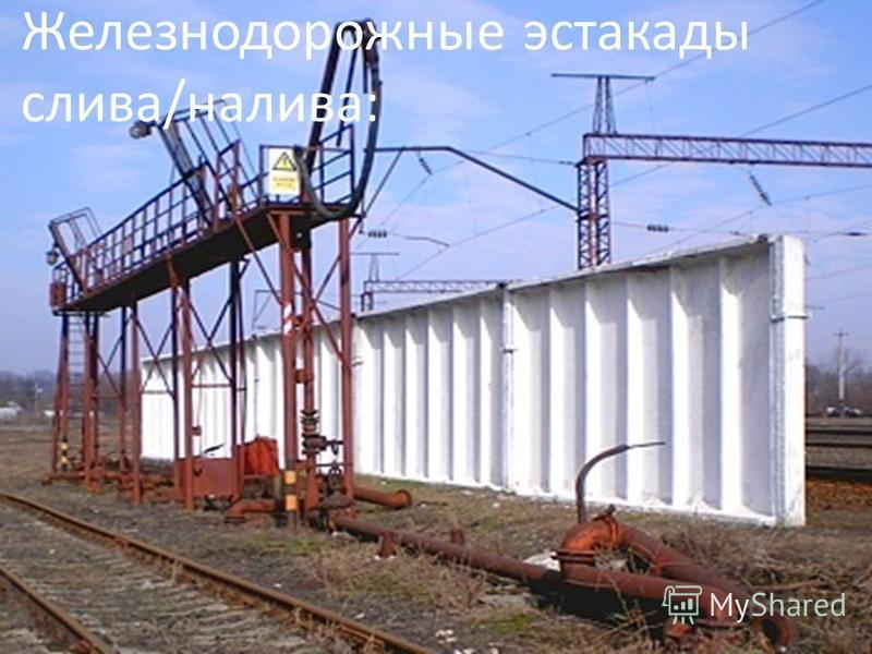 Железнодорожные эстакады слива/налива:
