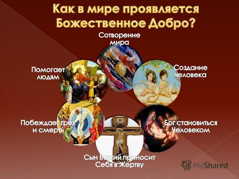 Бог есть Добро Бог заповедует творить добро Делая добро мы становимся Божьими детьми