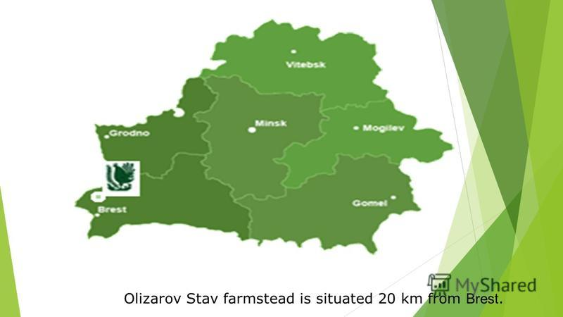 Olizarov Stav farmstead is situated 20 km from Brest.
