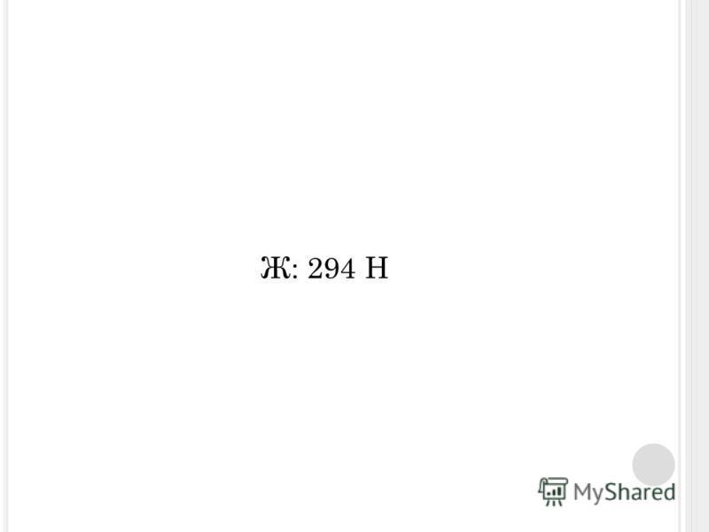 Ж: 294 Н
