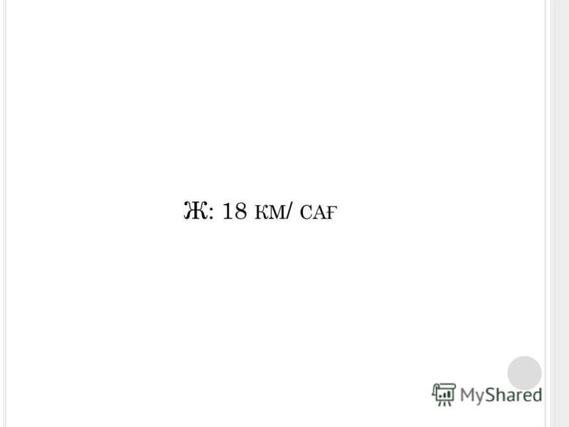 Ж: 18 КМ / СА Ғ