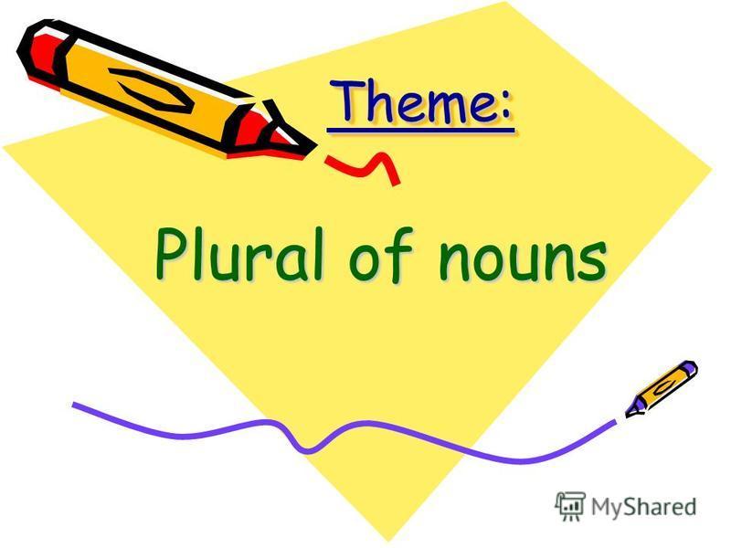 Theme:Theme: Plural of nouns
