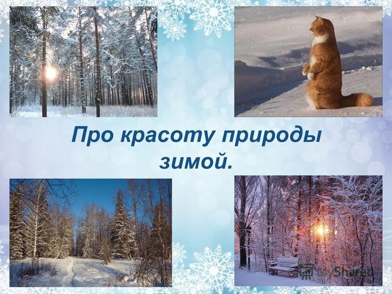 Про красоту природы зимой.