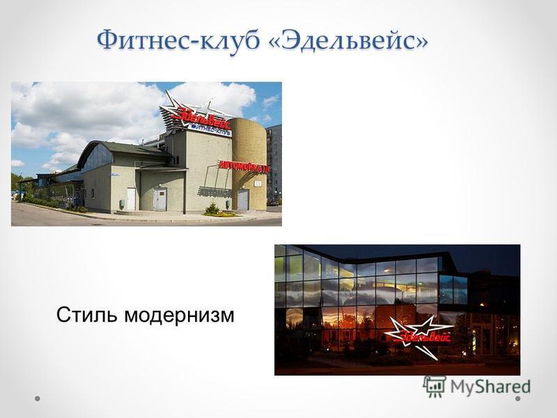 Фитнес-клуб «Эдельвейс» Стиль модернизм