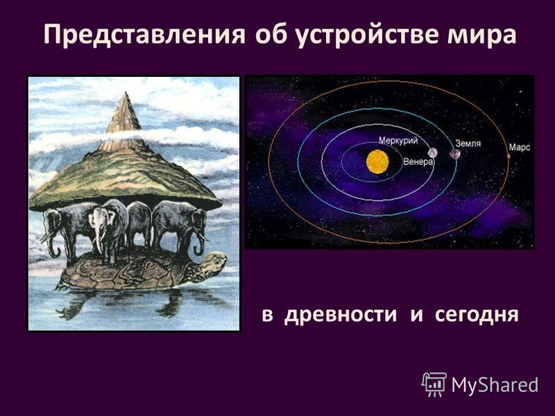 Представления об устройстве мира в древности сегодня