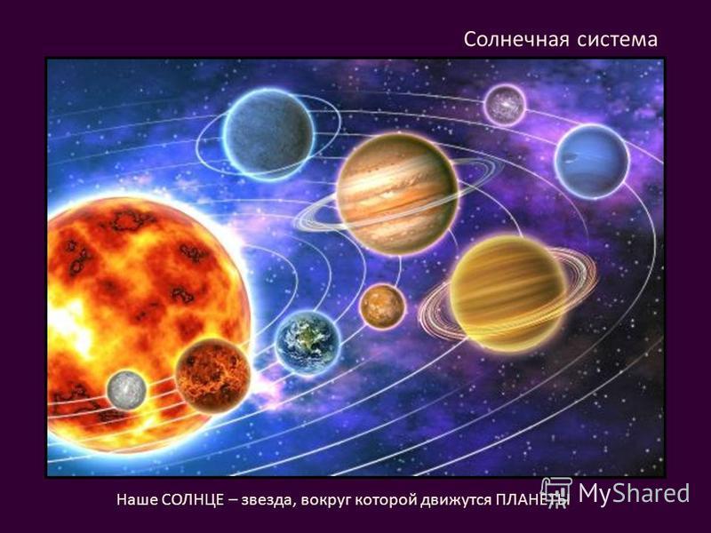 Солнечная система Наше СОЛНЦЕ – звезда, вокруг которой движутся ПЛАНЕТЫ