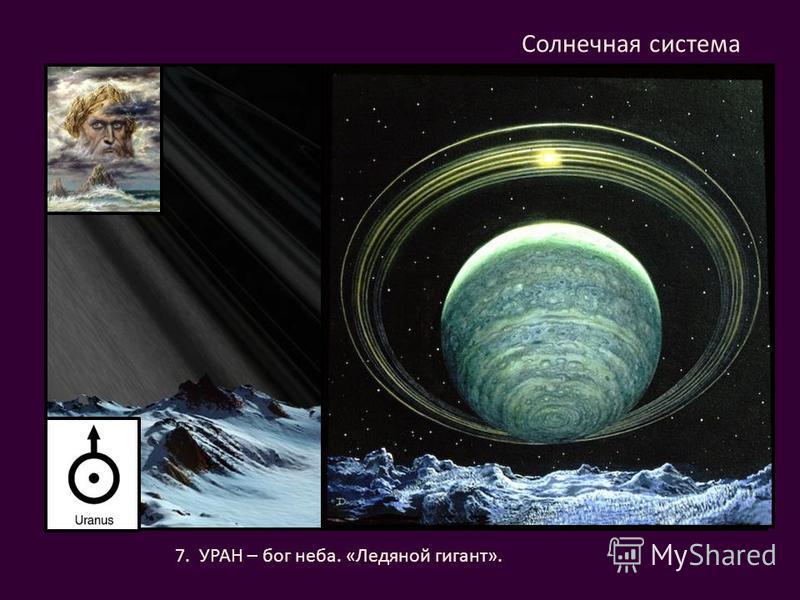 7. УРАН – бог неба. «Ледяной гигант». Солнечная система