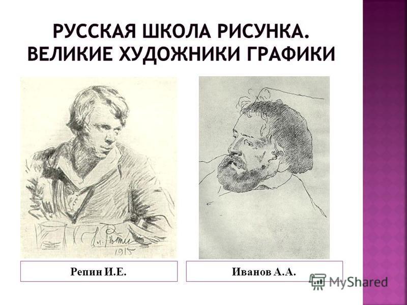 Репин И.Е.Иванов А.А.