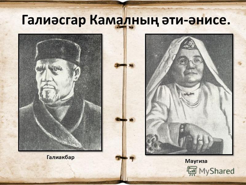 Галиәсгар Камалның әти-әнисе. Галиакбар Маугиза