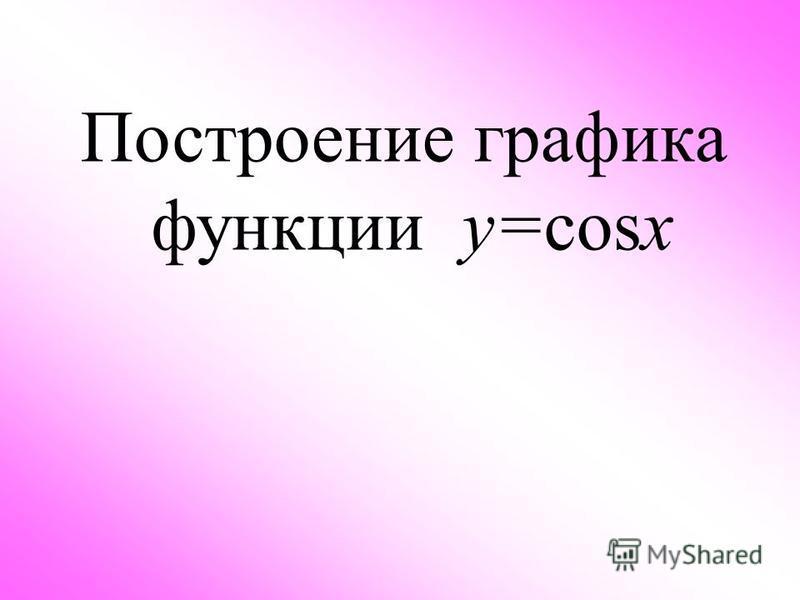 Построение графика функции у=cosx