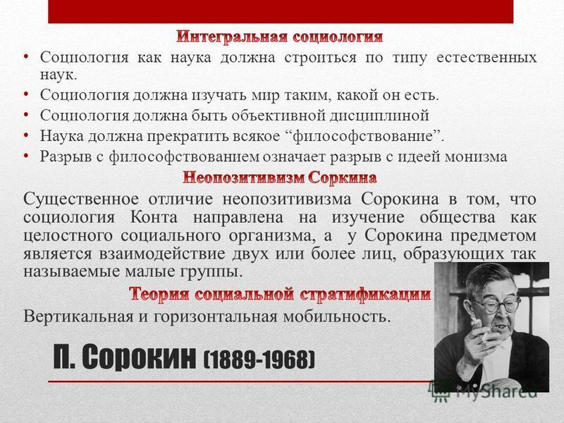П. Сорокин (1889-1968)